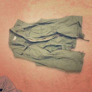 Army green jacket vest!
